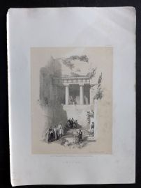 David Roberts Holy Land 4to 1856 Antique Print. Tomb of St. James